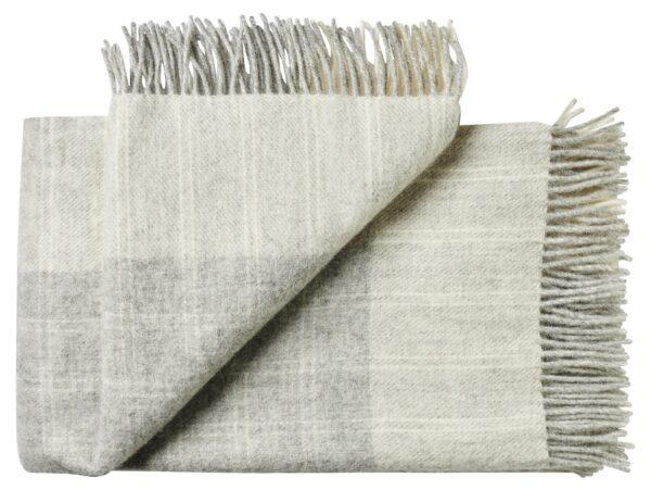Plaid - 140 x 240 cm, let grå-grå. Design: bornholm -0