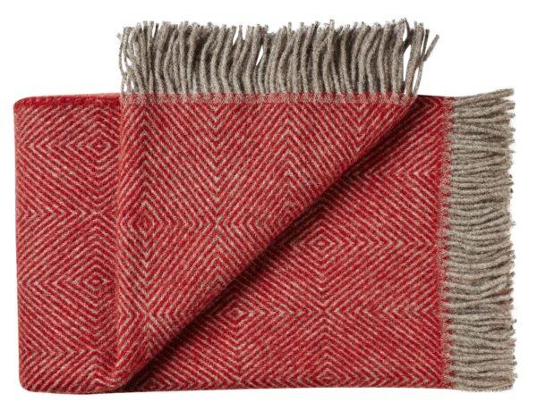 Plaid - 140 x 240 cm, rød. Design: fanø.-0