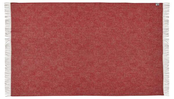 Plaid - 140 x 240 cm, rød. Design: fanø.-683