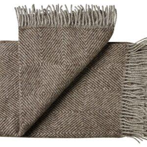 Plaid - 130 x 200 cm, brun. Design: fanø.-0