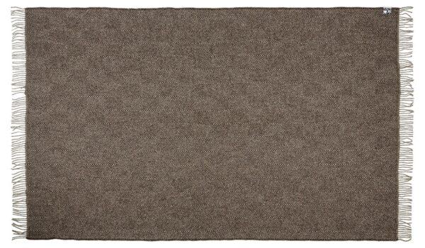 Plaid - 130 x 200 cm, brun. Design: fanø.-676