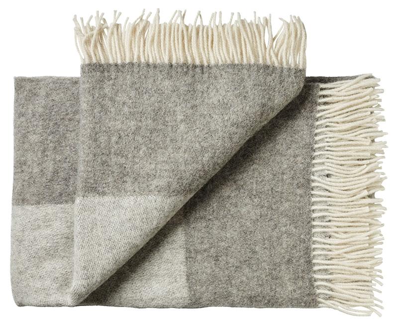 Plaid - 130 x 200 cm, lys grå-grå. Design: bornholm-0