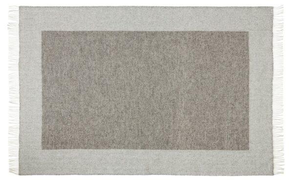 Plaid - 130 x 200 cm, lys grå-grå. Design: bornholm-667