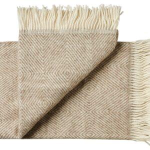 Plaid - 130 x 200 cm, beige. Design: fanø.-0