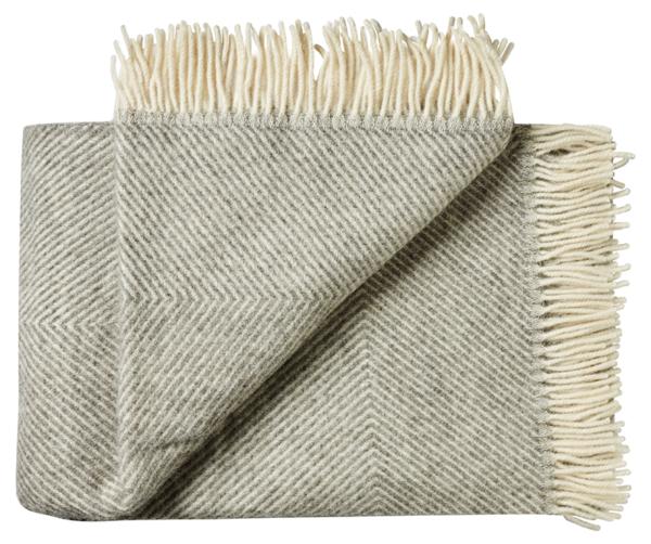 Plaid - 130 x 200 cm, grå. Design: femø.-0