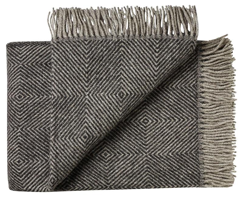 Plaid - 130 x 200 cm, sort. Design: fanø.-0
