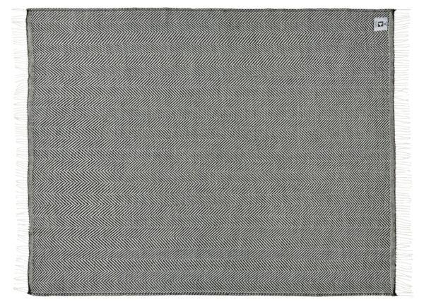 Plaid - 130 x 190 cm, sort. Design: bordeaux-656