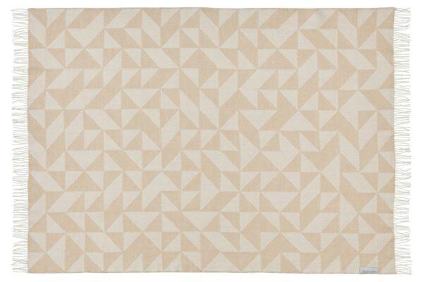 Plaid - 130 x 190 cm, beige. Design: twist a twill. -712