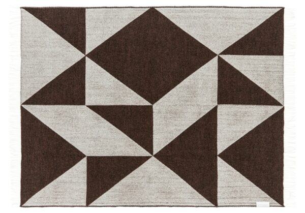 Plaid - 130 x 190 cm, brun. Design: focus on twill.-707