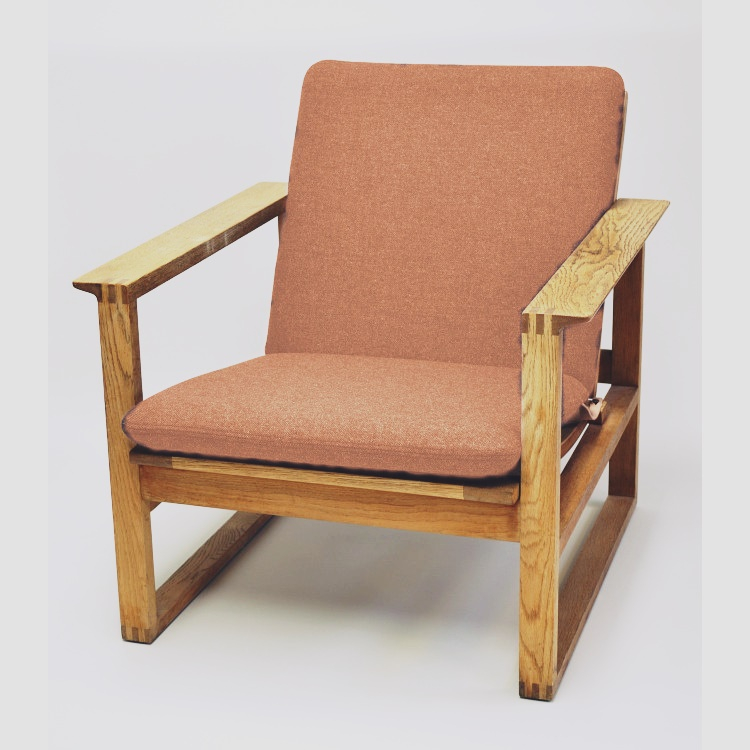 Hyndesæt Laksefarvet til: Børge Mogensen lav slædestol 2256.-0